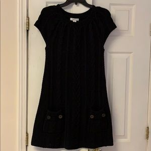 Style & Co black cable sweater dress - sz M